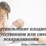 Восстановление плодности после родов